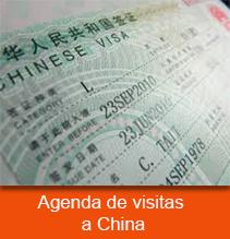 Agenda de visitas a China