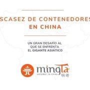 China se enfrenta a un gran desafío para cubrir con la demanda de contenedores