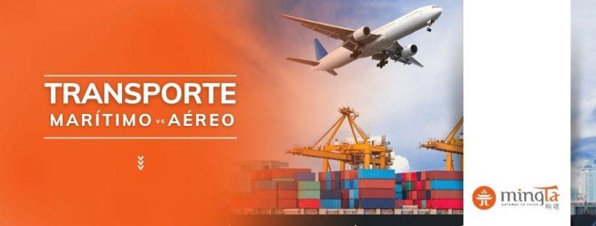 transporte marítimo vs aéreo